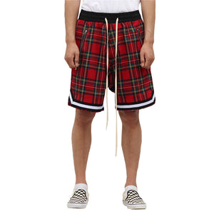 Scottish Style Vintage Check Casual Shorts