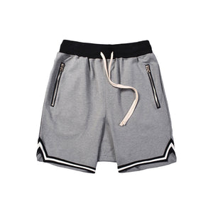 Street Fashion Zipper Slit Drawstring Shorts