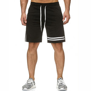 Sports Splicing Stripe Casual Shorts