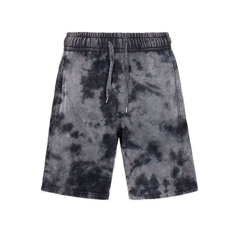 Casual Printed Tie-Dye Fashion Men's Sweater Shorts Suit, Men's Shorts
