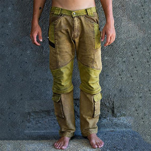 Men's casual colorblock stitching trousers