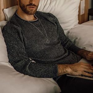 Men's fashion casual round neck sweater