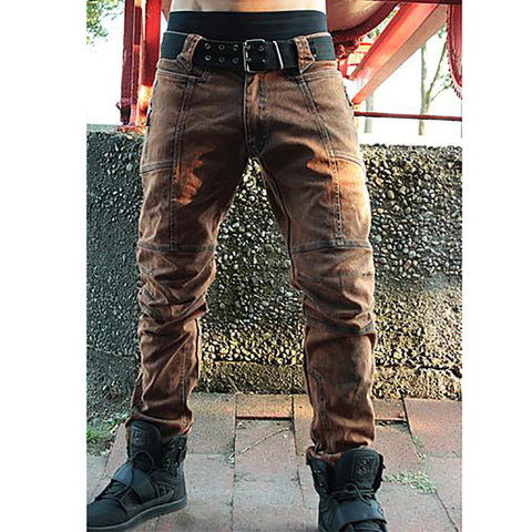 Men's casual stitching trousers