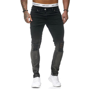 Trendy self-cultivation beamed hip-hop pants