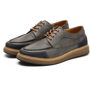 Men's British Style Low To Help Retro Leather Shoes