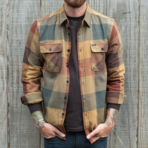 Men's Casual Retro Color Plaid Shirt Jacket