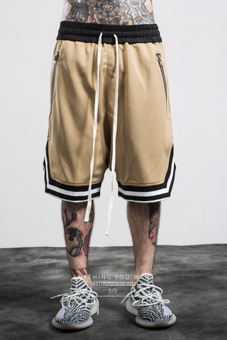 FGSS Men's Fashion Brand FOG Basketball Pants Zipper Men's Casual Pants Men's Shorts Pants Men