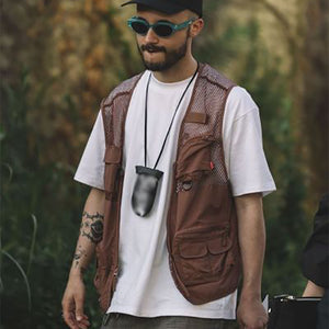 Men's stylish loose pocket stitching vest