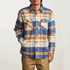 Fashion Men'S Plaid Spell Color Shirt