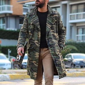 Fashion Camouflage Double-Breasted Coat