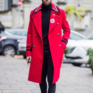 Casual Lapel Double Breasted Overcoat