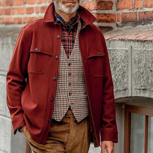 Classic Soild Color Single-Breasted Jacket