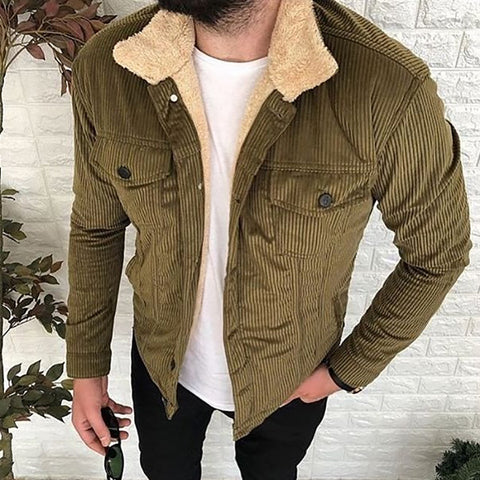 Classic Fashion Corduroy Thick Coat