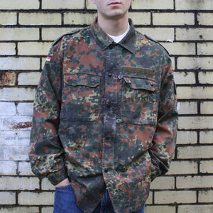 Men's Camouflage Button Jacket