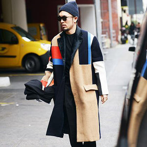 Fashionable and handsome long coat
