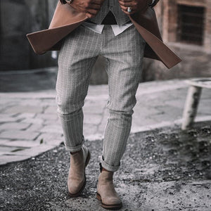 Men's Fashion Simple Striped Trousers