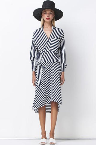 JAIL BIRD WRAP DRESS