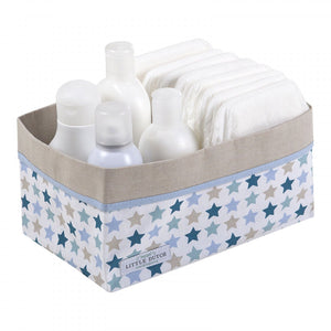 Baby storage basket, large, Mixed stars mint - DrømmBørn