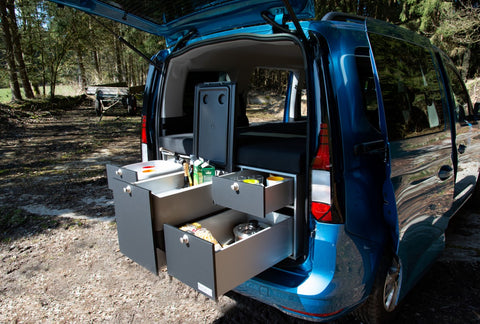 VW New Caddy V-  Mini Camper Kitchen Module for new Caddy from VanEssa mobilcamping