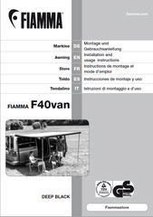 VanEssa mobilcamping Fiamma F40 Awning Instruction Guide