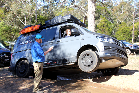 Volkswagen with Seikel Underbody Protection OffRoad 4motion Vans Multivan Transporter Training Australia T6 Rockton