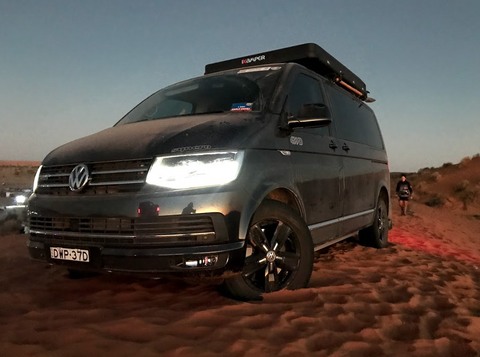 iKamper Birdsville Volkswagen Multivan Campervan 4 person roof top tent