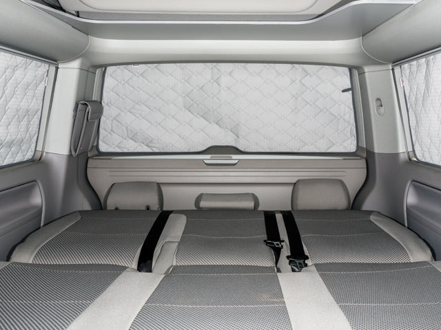 "BRANDRUP Velour Carpet - VW T6 Front Cabin - Single Piece - Clip Fixing - RHD - ""Titan Black"" ISOLITE EXTREME Rear Window"