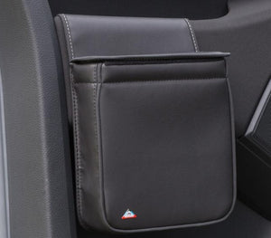 "MULTIBOX VW T6 for cabin door, design ""Leather Titanium Black"""