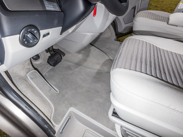 "BRANDRUP Velour Carpet - VW all T5 Front Cabin - Single Piece - Clip Fixing - RHD - ""Moon Rock"""