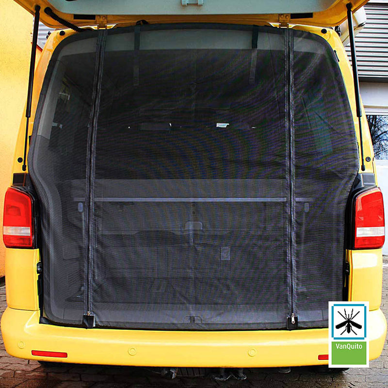 VanQuito Mosquito Net for VW T5/T6 with Zip for Rear Door / tailgate