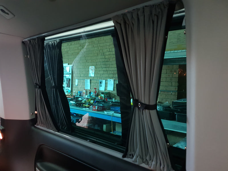 Multivan/Caravelle 5pc Curtain Set (LWB) - 4 Side Windows + Tailgate