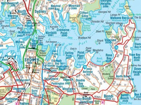 Hema Maps Sydney & Region Supermap - 1000x1430 - Laminated