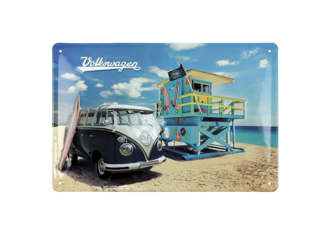 VW T1 Bus Metal Sign - Beach Life