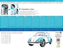 Load image into Gallery viewer, VW Beetle Wall Sticker / Tattoo - Blue