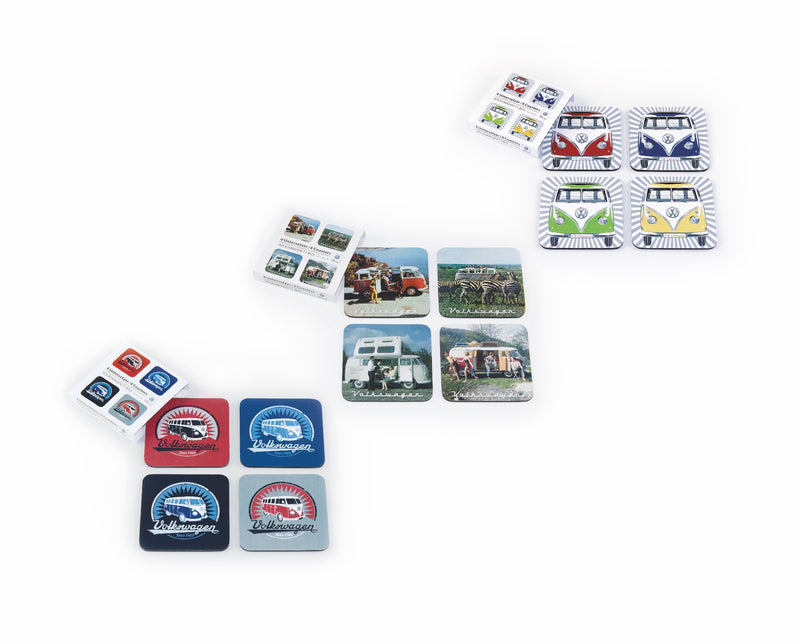 VW T1 BUS COASTERS 4-PC SET IN PAPER SLEEVE - SCENERY