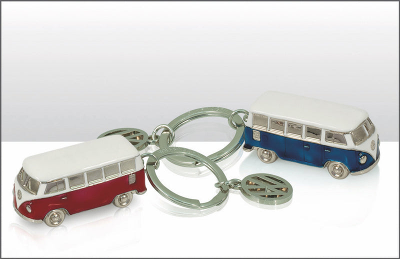VW T1 Bus 3D Model Key Ring in Blister Packaging - Red