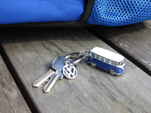 Load image into Gallery viewer, VW T1 Bus 3D Model Key Ring in Blister Packaging - Blue