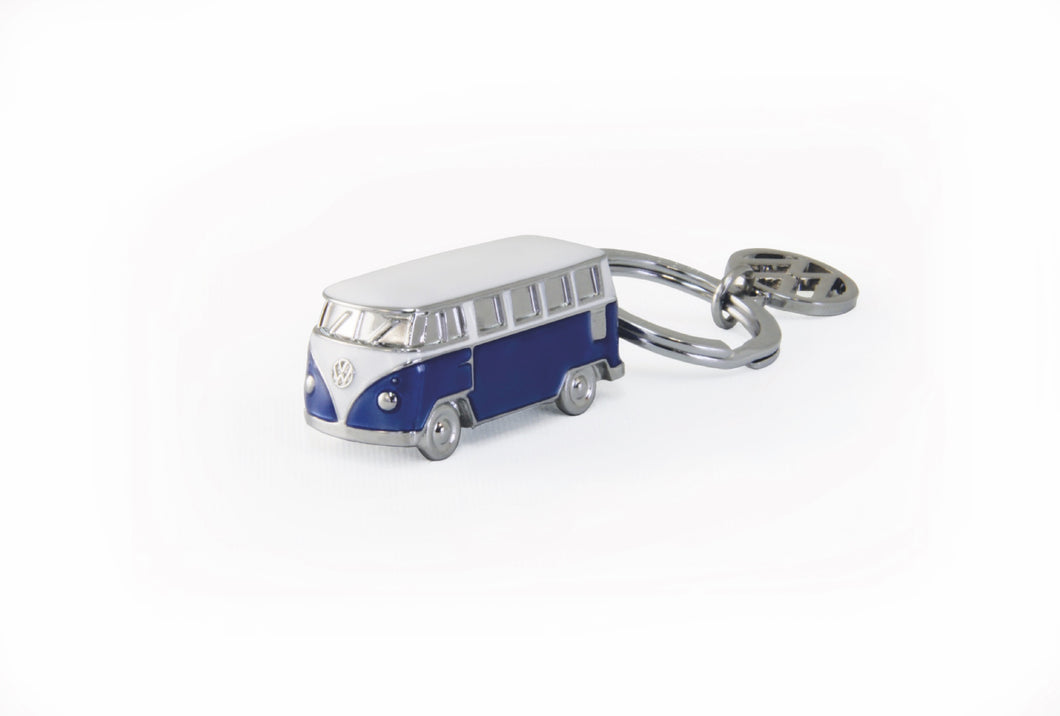 VW T1 Bus 3D Model Key Ring in Blister Packaging - Blue
