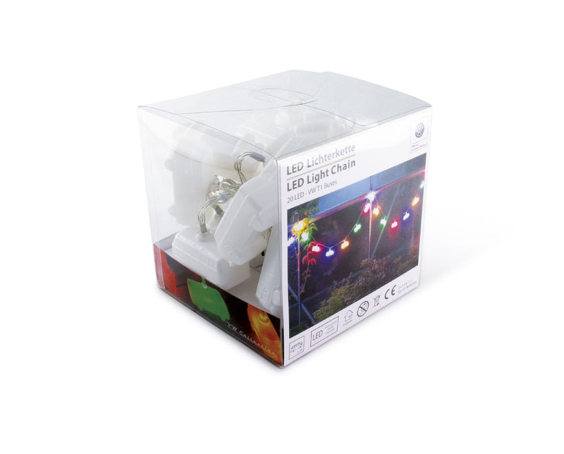 VW T1 Bus 3D String Lights or Christmas Lights, 20 x LED, In Gift Box - Multicolour