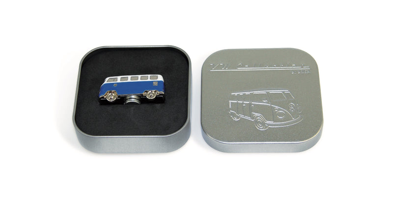VW T1 Bus 3D Mini Model Magnet In Gift Tin - Blue