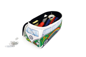 VW T1 Bus 3D Neoprene Small Universal Bag - Toiletry Bag - Green Peace