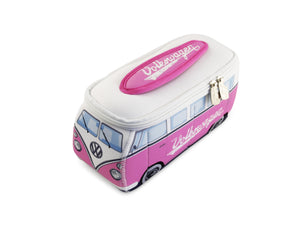 VW T1 Bus 3D Neoprene Small Universal Bag - Toiletry Bag - Pink