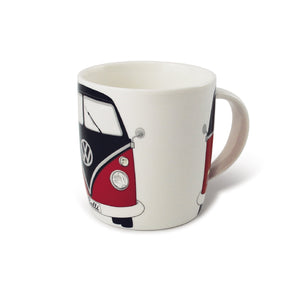 VW T1 Kombi Bus Coffee Mug 370ml in Gift Box -  Red and Black