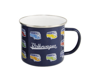 VW T1 Bus Enamel Mug 500ml in Gift Box - Bulli Parade - Blue