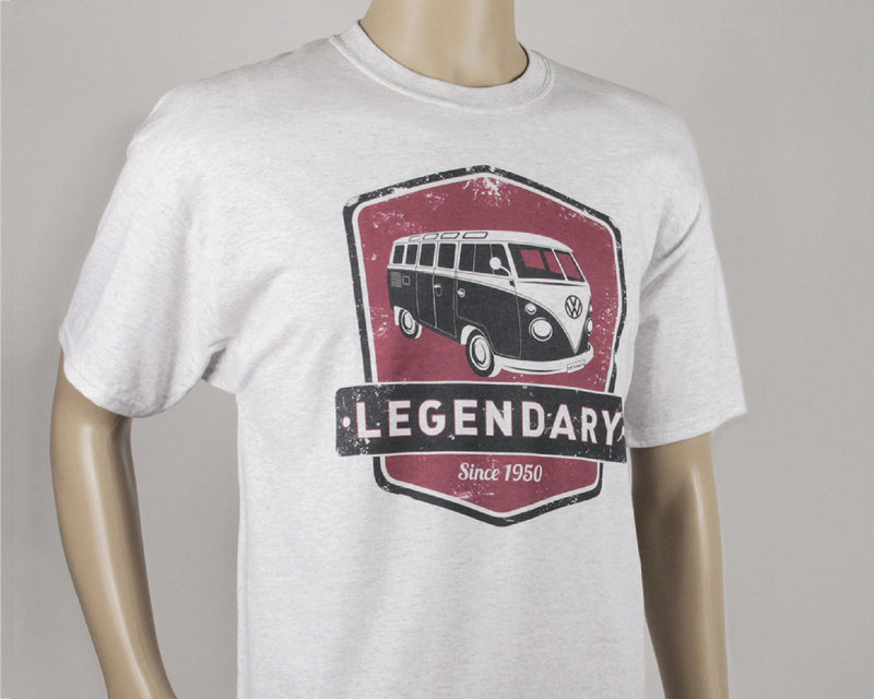 VW T1 Bus T-Shirt Unisex (XL) - Legendary - Red and Grey