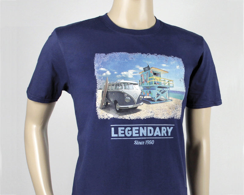 VW T1 Bus T-Shirt Unisex (XXL) - Beach - Blue
