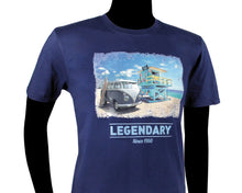 Load image into Gallery viewer, VW T1 Bus T-Shirt Unisex (XXL) - Beach - Blue
