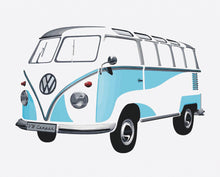 Load image into Gallery viewer, VW T1 Bus Wall Sticker / Tattoo - Classic Blue