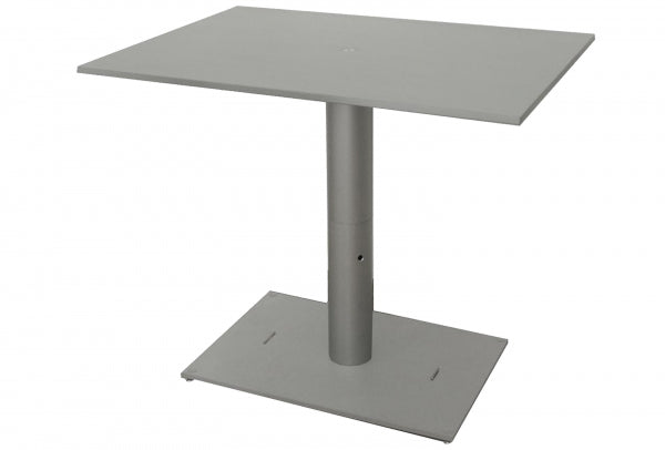 Camping Table - single Pedestal. 4-piece for storage in/on rear kitchen - Width 80 cm, Length 58,5 cm, Height 68 cm