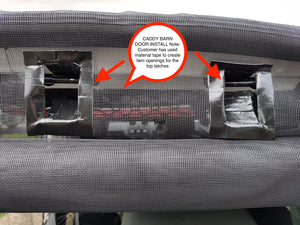 Mosquito Net VW Caddy REAR from 2010 with Integrated Zippers